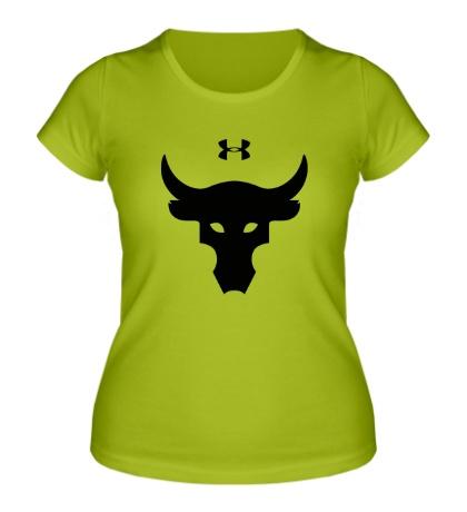 Женская футболка Dwayne Johnson Bull