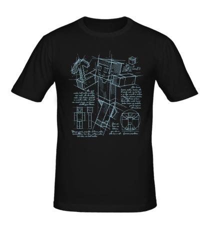 Мужская футболка Minecraft Drawing