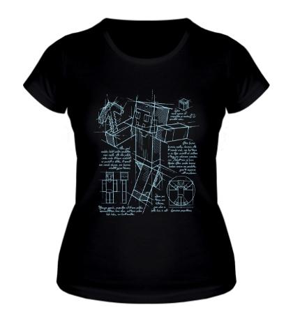 Женская футболка Minecraft Drawing