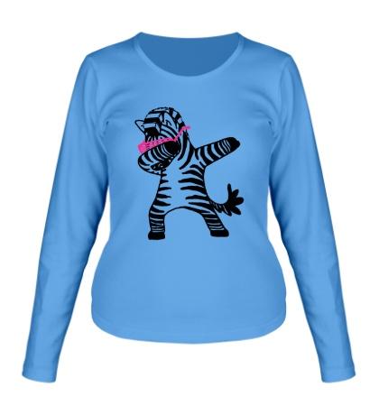 Женский лонгслив Zebra Dub