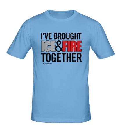 Мужская футболка Ice & Fire Together