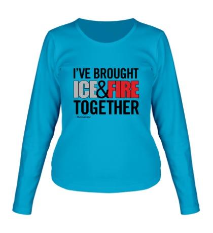 Женский лонгслив Ice & Fire Together