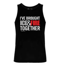 Мужская майка Ice & Fire Together