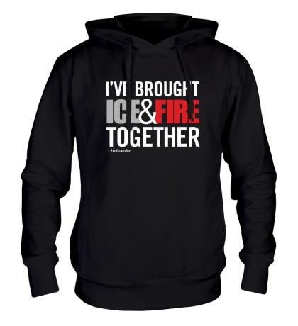 Толстовка с капюшоном Ice & Fire Together