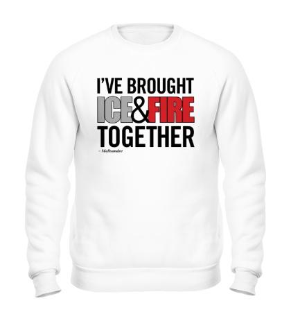 Свитшот Ice & Fire Together