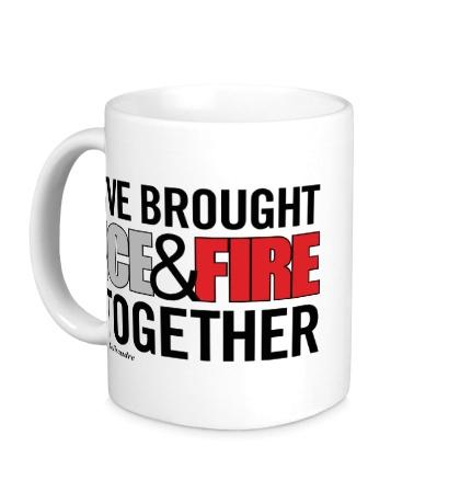 Керамическая кружка Ice & Fire Together