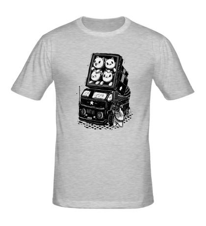 Мужская футболка Катюша из кошек