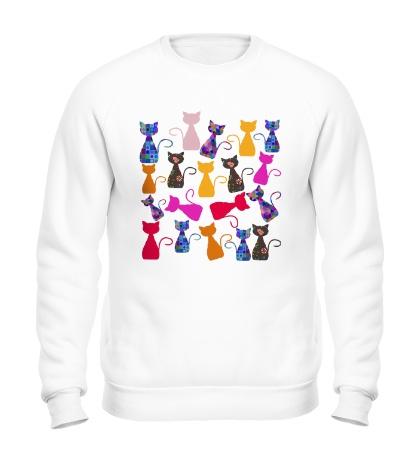 Свитшот Цветные кошки