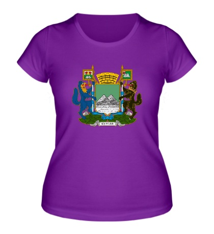 Женская футболка Герб Кургана