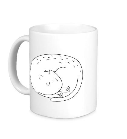 Керамическая кружка Cat ripndip