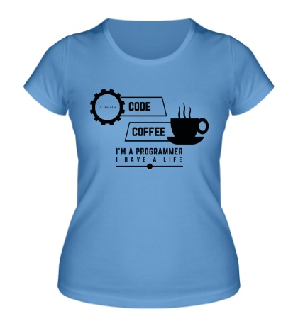 Женская футболка Programmer: Coffee & Code
