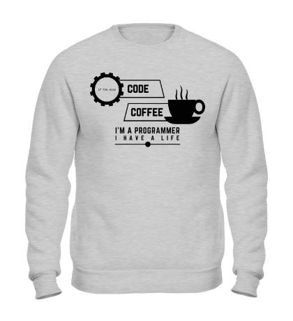 Свитшот Programmer: Coffee & Code