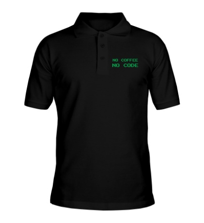 Рубашка поло No Coffe, No Code