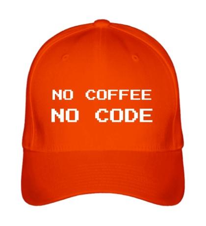 Бейсболка No Coffe, No Code
