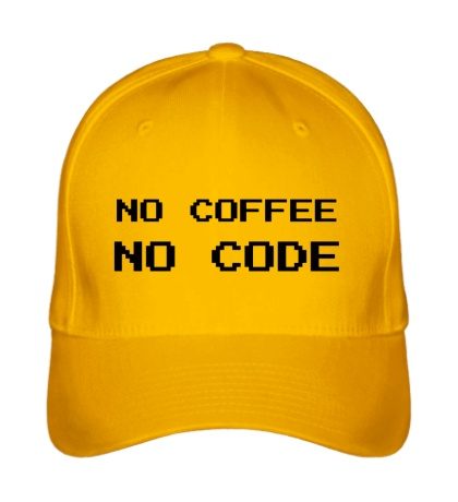 Бейсболка No Coffe, No Code
