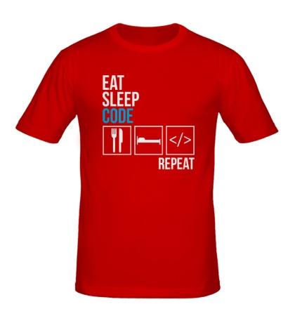 Мужская футболка Code Repeat