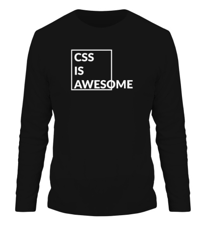 Мужской лонгслив CSS is awesome