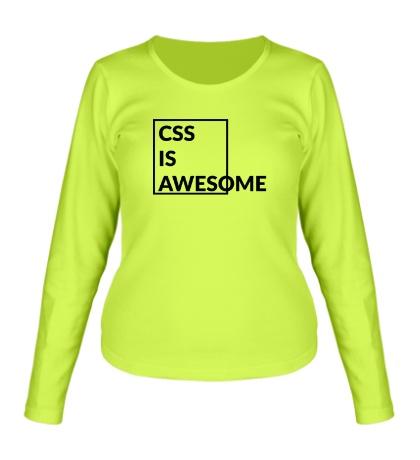 Женский лонгслив CSS is awesome