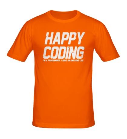 Мужская футболка Happy Coding