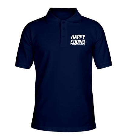 Рубашка поло Happy Coding
