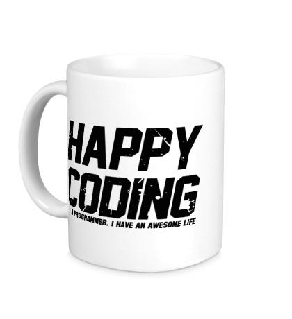 Керамическая кружка Happy Coding