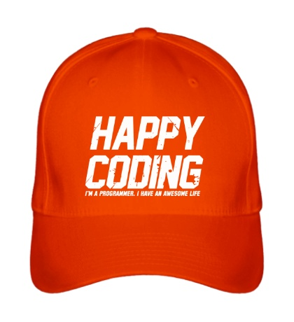 Бейсболка Happy Coding