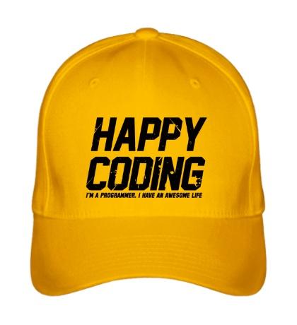 Бейсболка Happy Coding