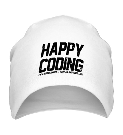 Шапка Happy Coding