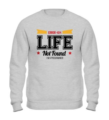 Свитшот 404: Life not Found