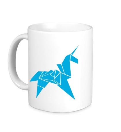 Керамическая кружка Оригами Единорог
