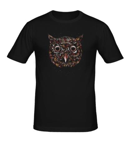 Мужская футболка Космическая сова