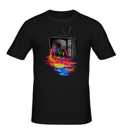 Мужская футболка Перегрузка пикселей