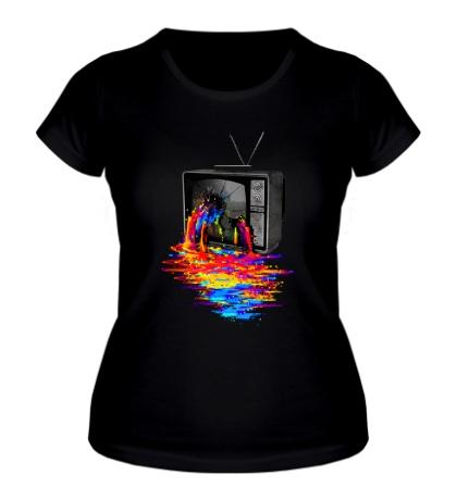 Женская футболка Перегрузка пикселей