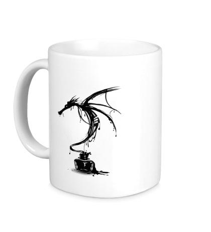 Керамическая кружка Чернильный дракон