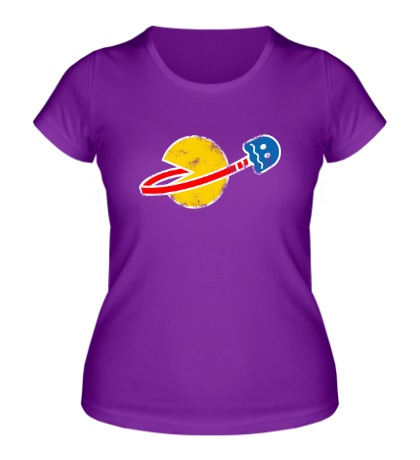 Женская футболка Space Pacman