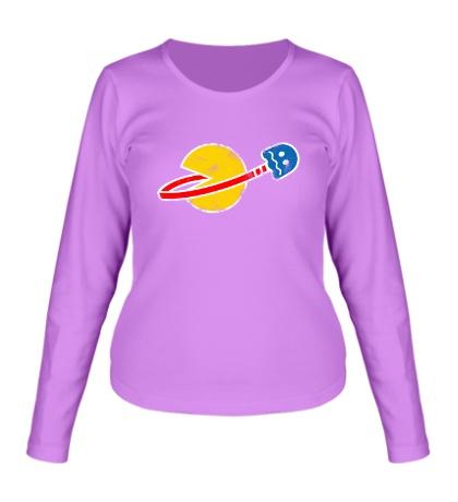 Женский лонгслив Space Pacman