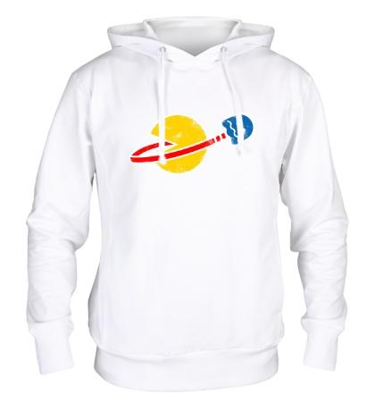 Толстовка с капюшоном Space Pacman