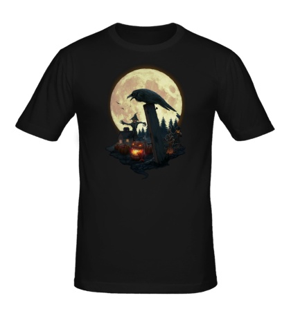 Мужская футболка Лунный ворон
