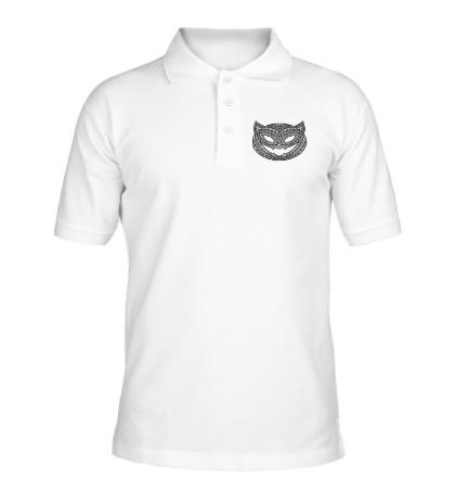 Рубашка поло Кошка с хэллоуинским узором