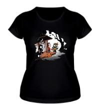 Женская футболка Halloween Decoy