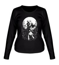 Женский лонгслив Halloween Moon