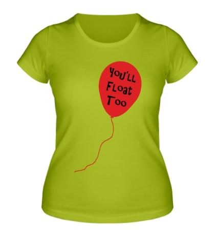 Женская футболка Шарик клоуна
