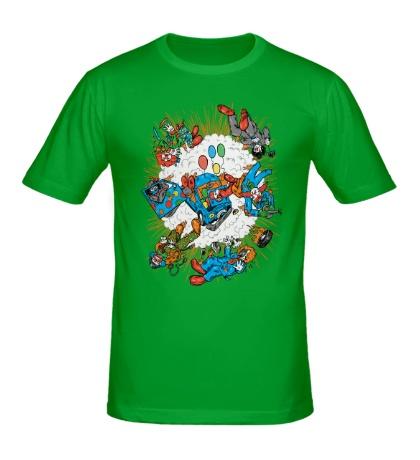 Мужская футболка Взрыв клоуна-мобиля