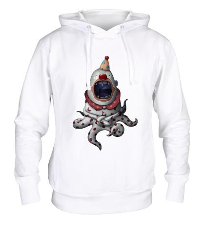 Толстовка с капюшоном Клоун-осьминог