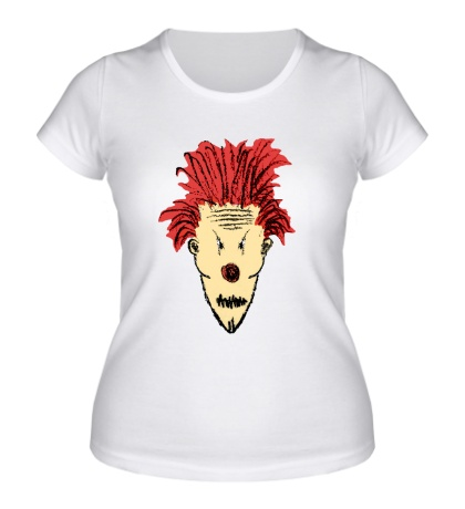 Женская футболка Рисунок злого клоуна