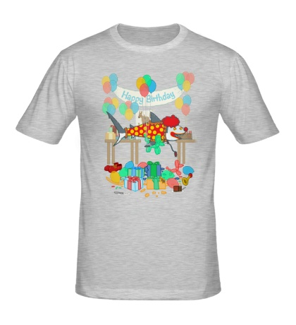 Мужская футболка The Birthday Party Clown Shark
