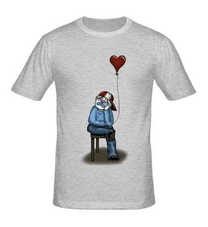Мужская футболка Влюблённый клоун