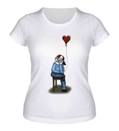 Женская футболка Влюблённый клоун
