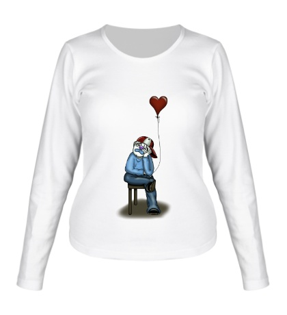 Женский лонгслив Влюблённый клоун