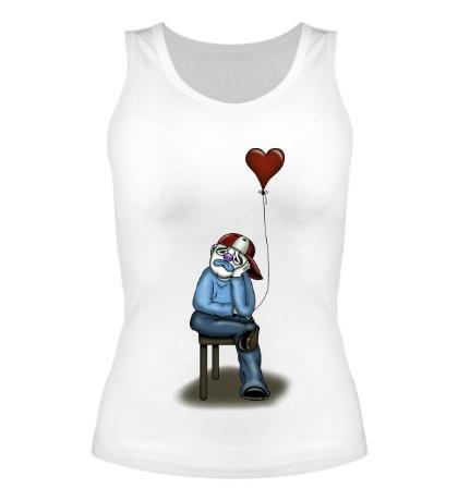 Женская майка Влюблённый клоун